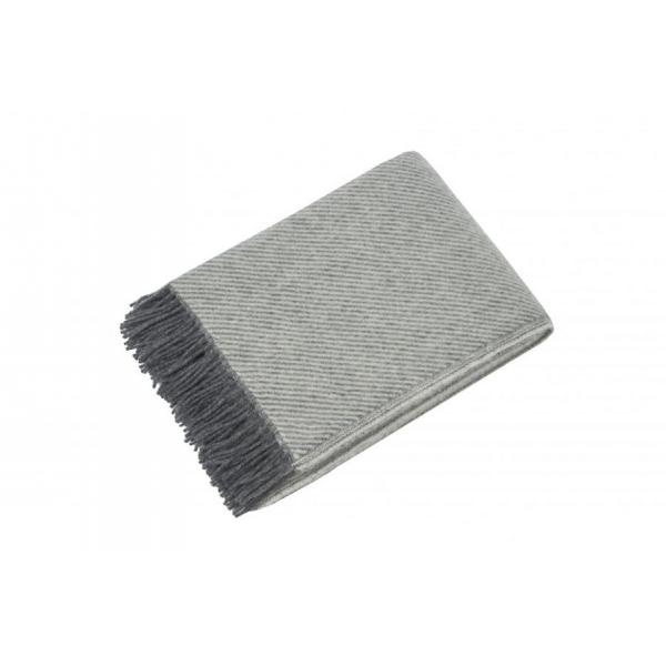 Reine gray - scandinavian-norwegian wool blanket