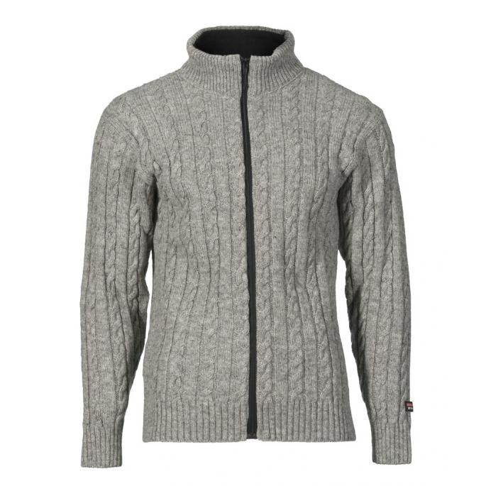 braided wool sweater - Norwegian design - Gray