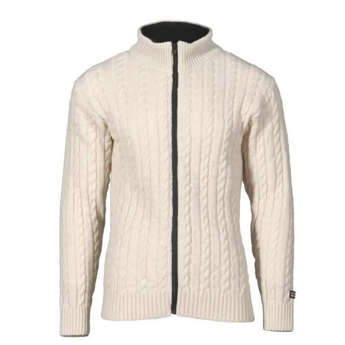 braided wool sweater - Norwegian design - Natural
