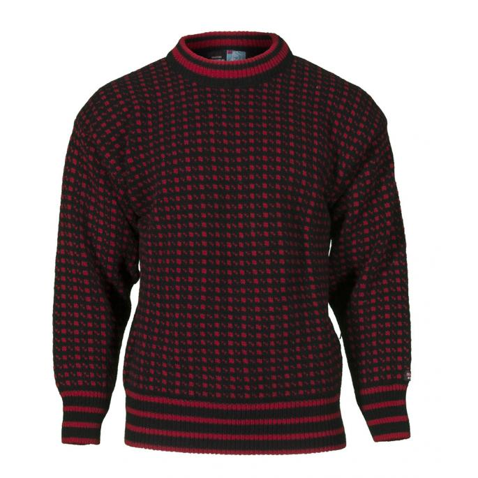 Black and white norwegian wool sweater
