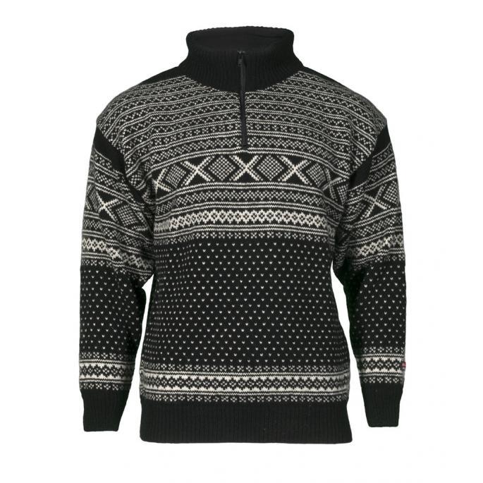Norwegian wool sweater traditional design