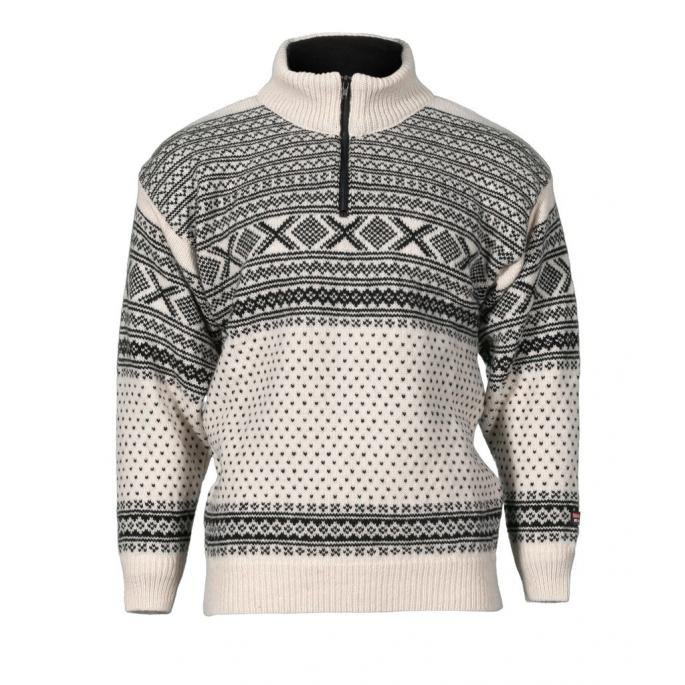 Norwegian wool sweater traditional design and patterns