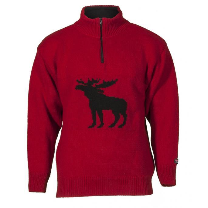 Wool sweater with design moose - norwegian